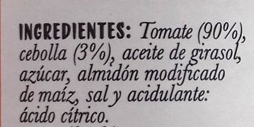 Sofrito de Tomate - Ingredients