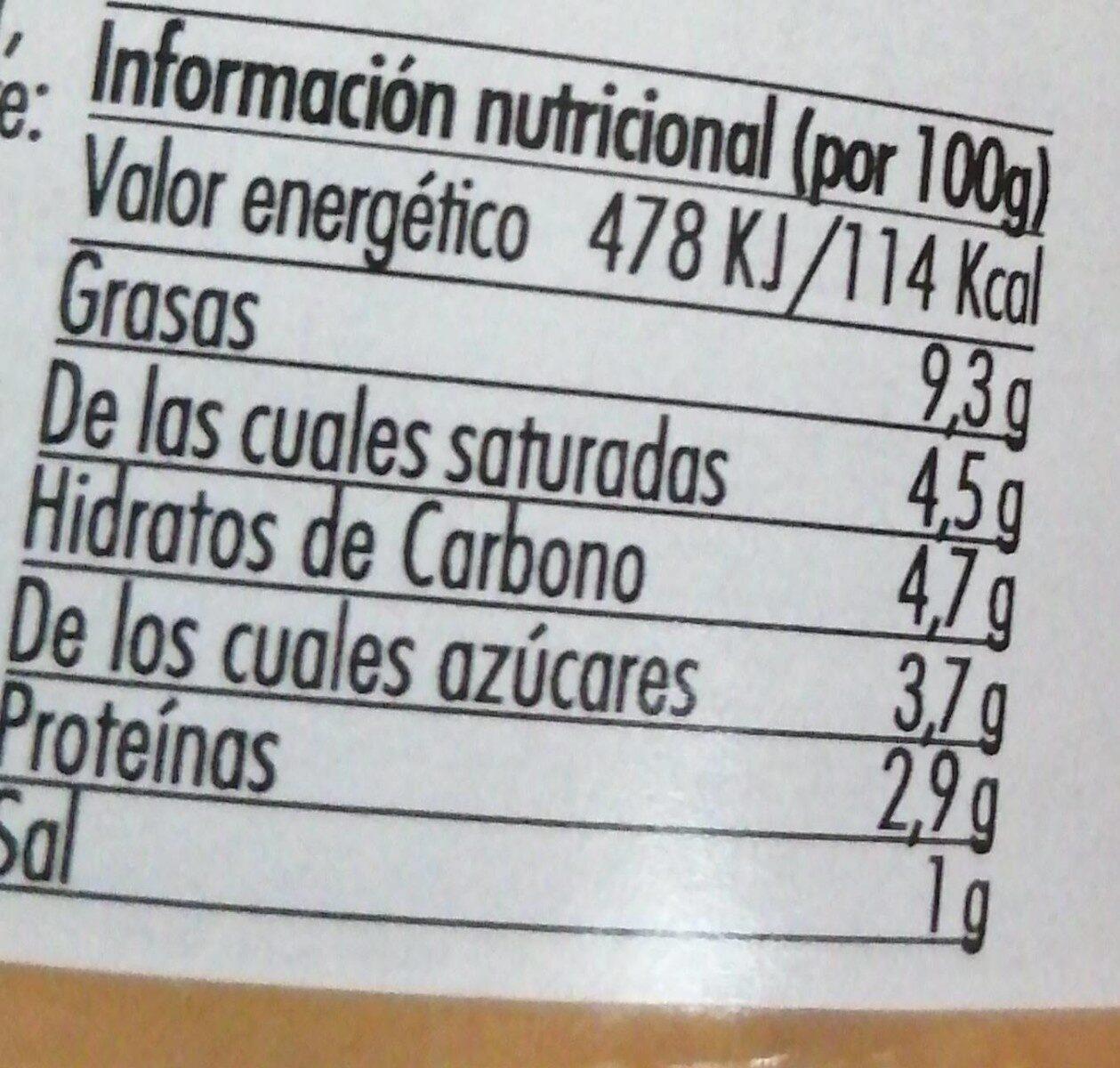 Dip de queso - Nutrition facts - es