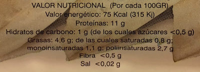 Tofu fresco - Informació nutricional