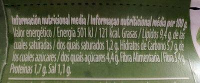 Bocadelia Veggie calabacín - Nutrition facts - es