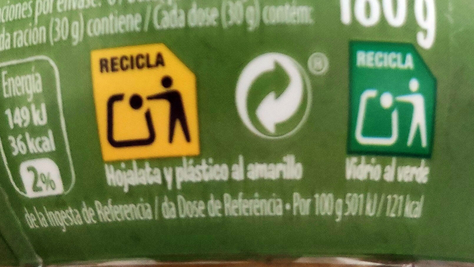 Bocadelia Veggie calabacín - Recycling instructions and/or packaging information - es