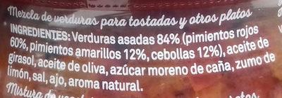 Verduritas para tostas - Ingredientes - es