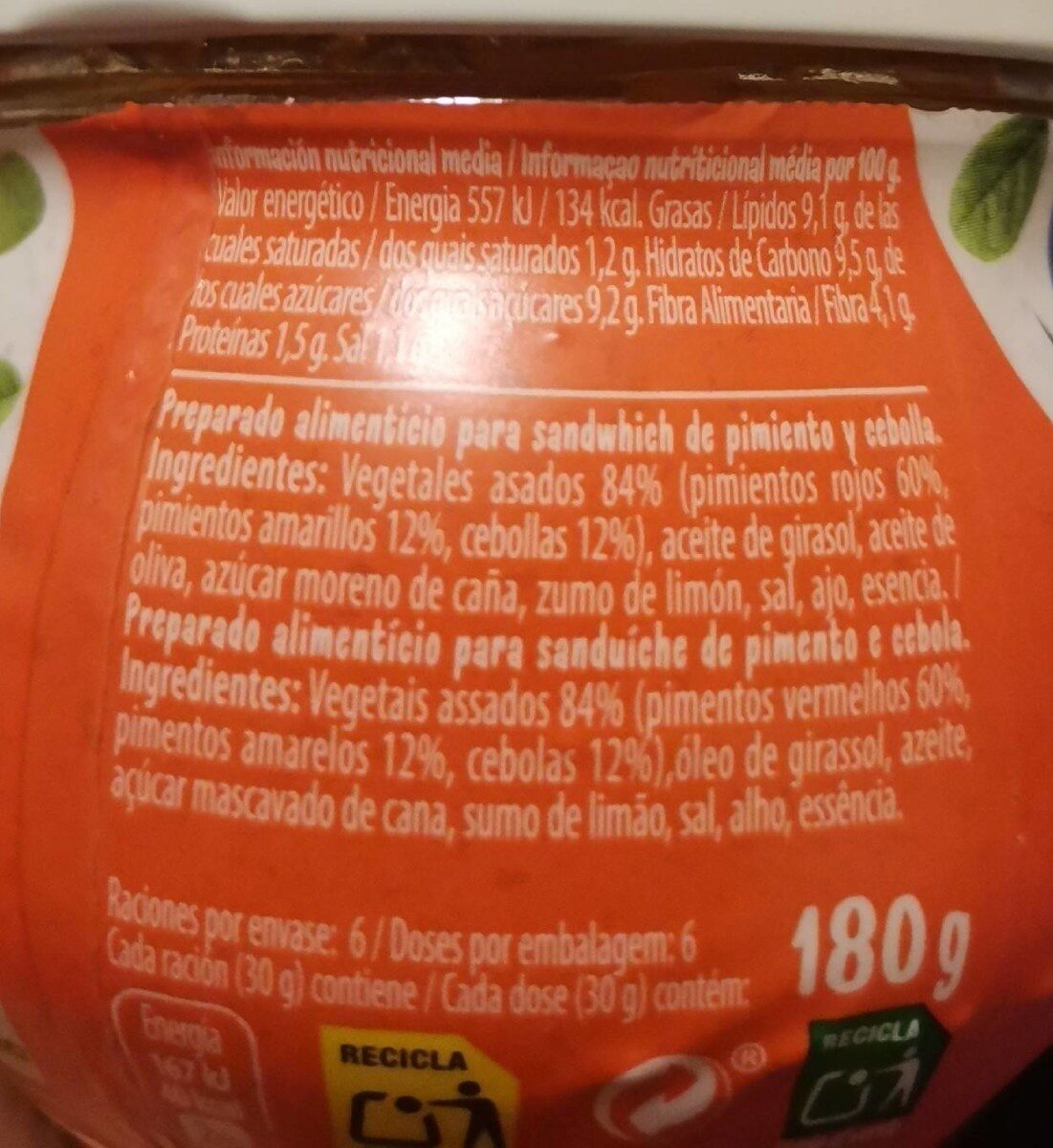 Bocadelia Veggie - Informació nutricional - es