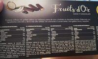 Links Fruits d'or - Informació nutricional - fr