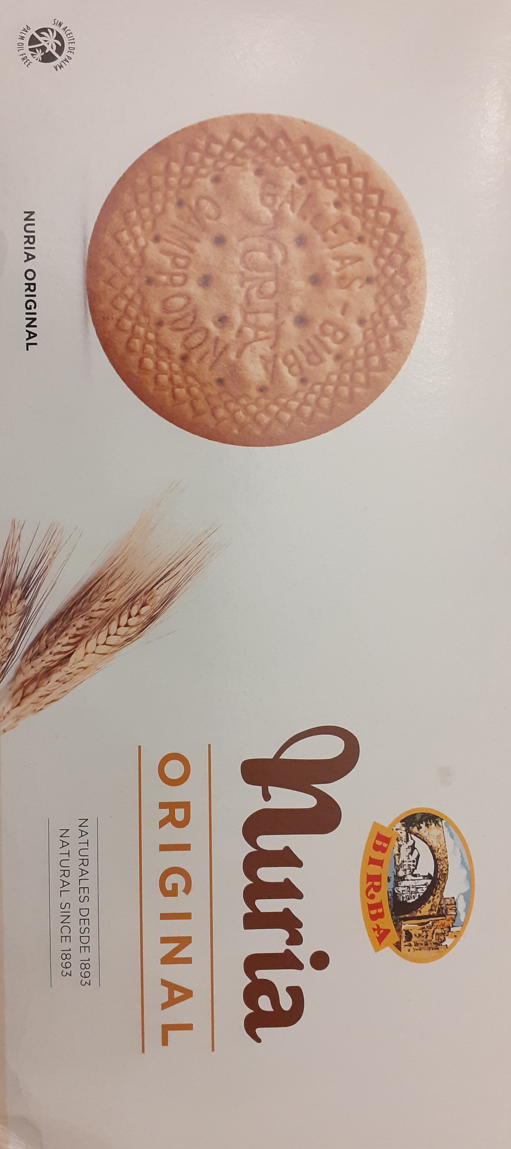 Nuria original galletas naturales sin aceite de palma - Product - es