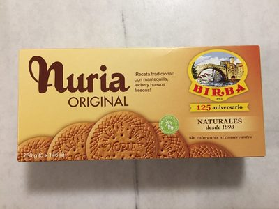 Nuria original galletas naturales sin aceite de palma - Produit