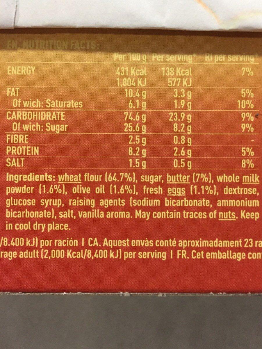 Nuria original galletas naturales sin aceite de palma - Ingrédients