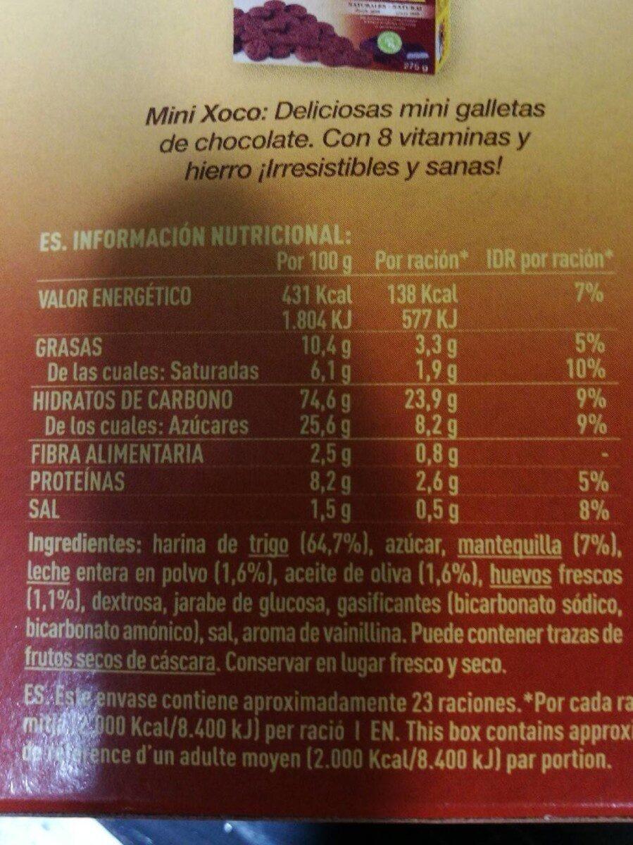 Nuria original galletas naturales sin aceite de palma - Informations nutritionnelles