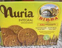 Nuria galletas integrales y naturales, sin aceite de palma - Produit - fr