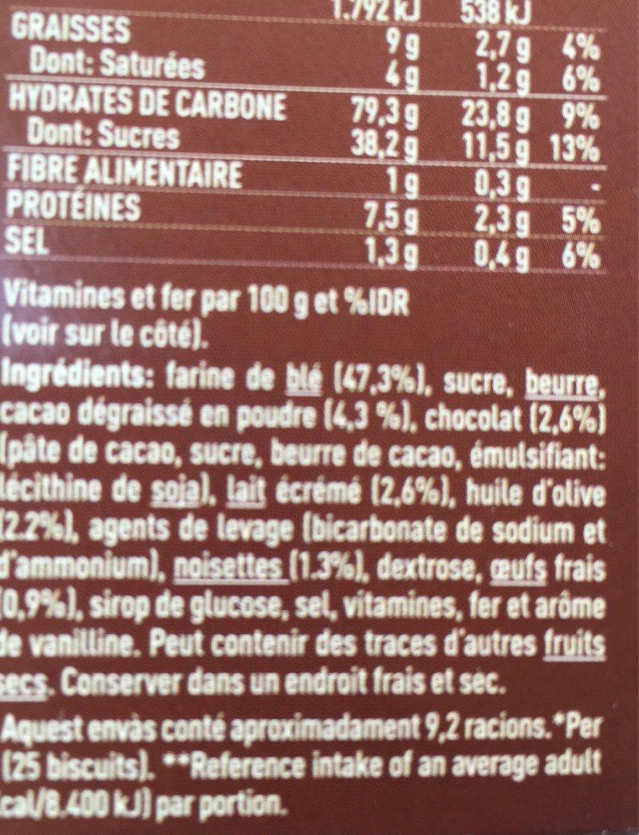 Galetes Nuria Mini Xoco Birba - Ingredients
