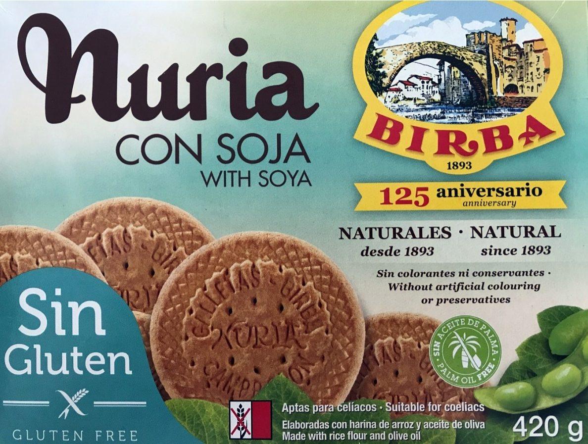 Nuria galletas naturales con soja, sin gluten - Producte