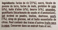 Nuria galletas naturales con soja, sin gluten - Ingredients
