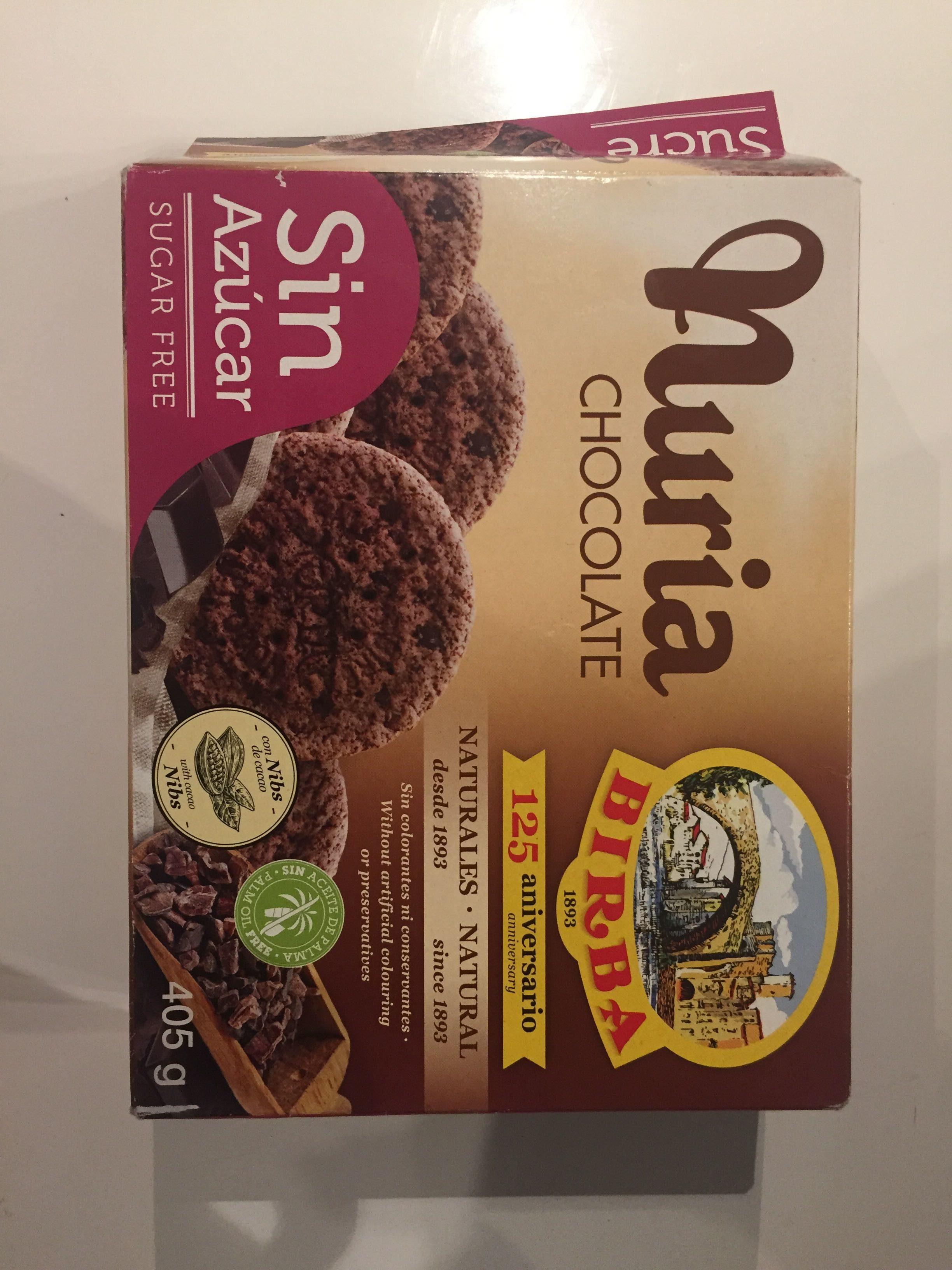 Nuria galletas naturales con chocolate sin azúcar - Product