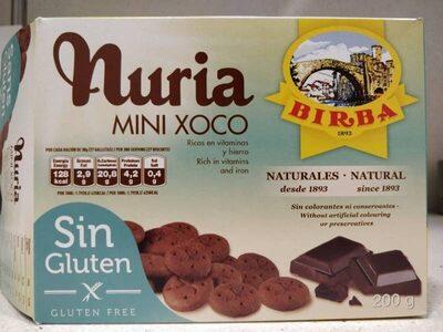 Nuria mini xoco sin gluten