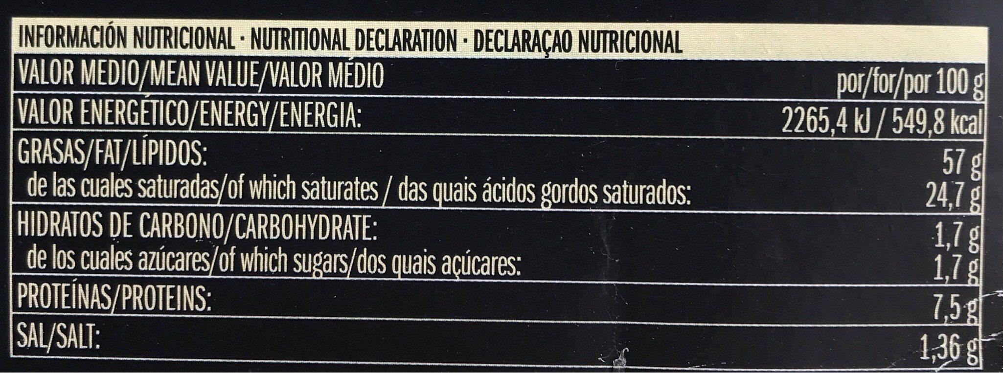 Foie gras entero de pato mi cuit - Informació nutricional