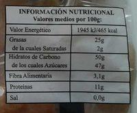 Mazapan - Información nutricional - es