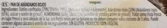 Pan de arándanos con almendras - Ingredients