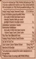 Pan de naranja con chocolate - Información nutricional