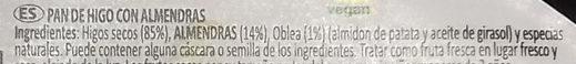 Pan de higo con almendras - Ingredients