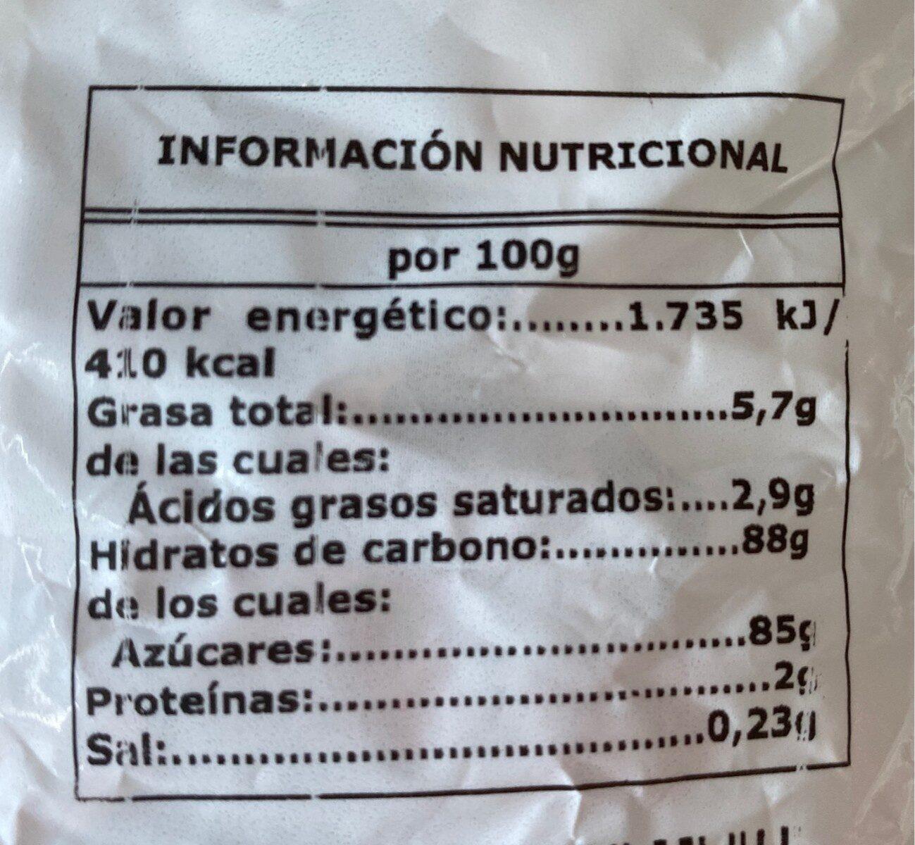 Caramelos masticables - Información nutricional - es