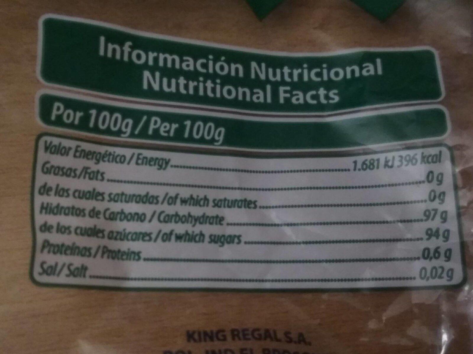 Caramelos de eucaliptus - Información nutricional - es