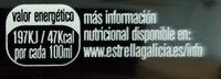 Estrella Galicia Cerveza especial - Información nutricional