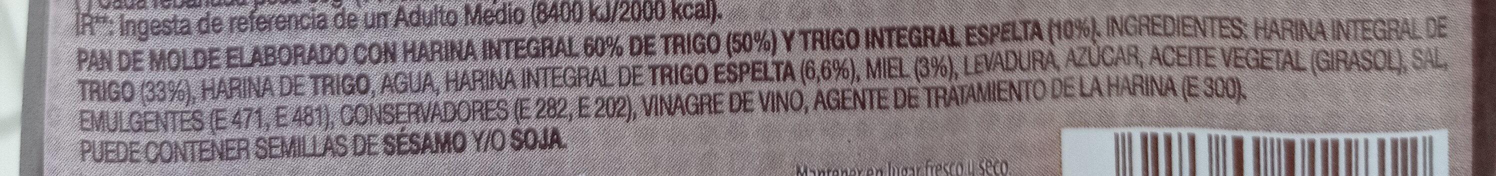 Rebanada Estilo Artesano - Ingredientes - fr