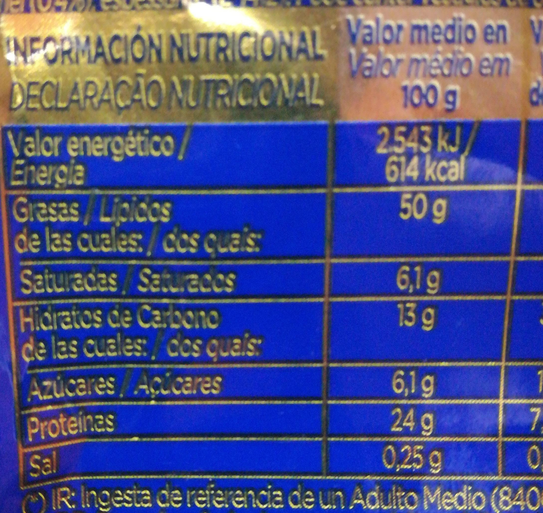 Cocktail deluxe - Información nutricional - es
