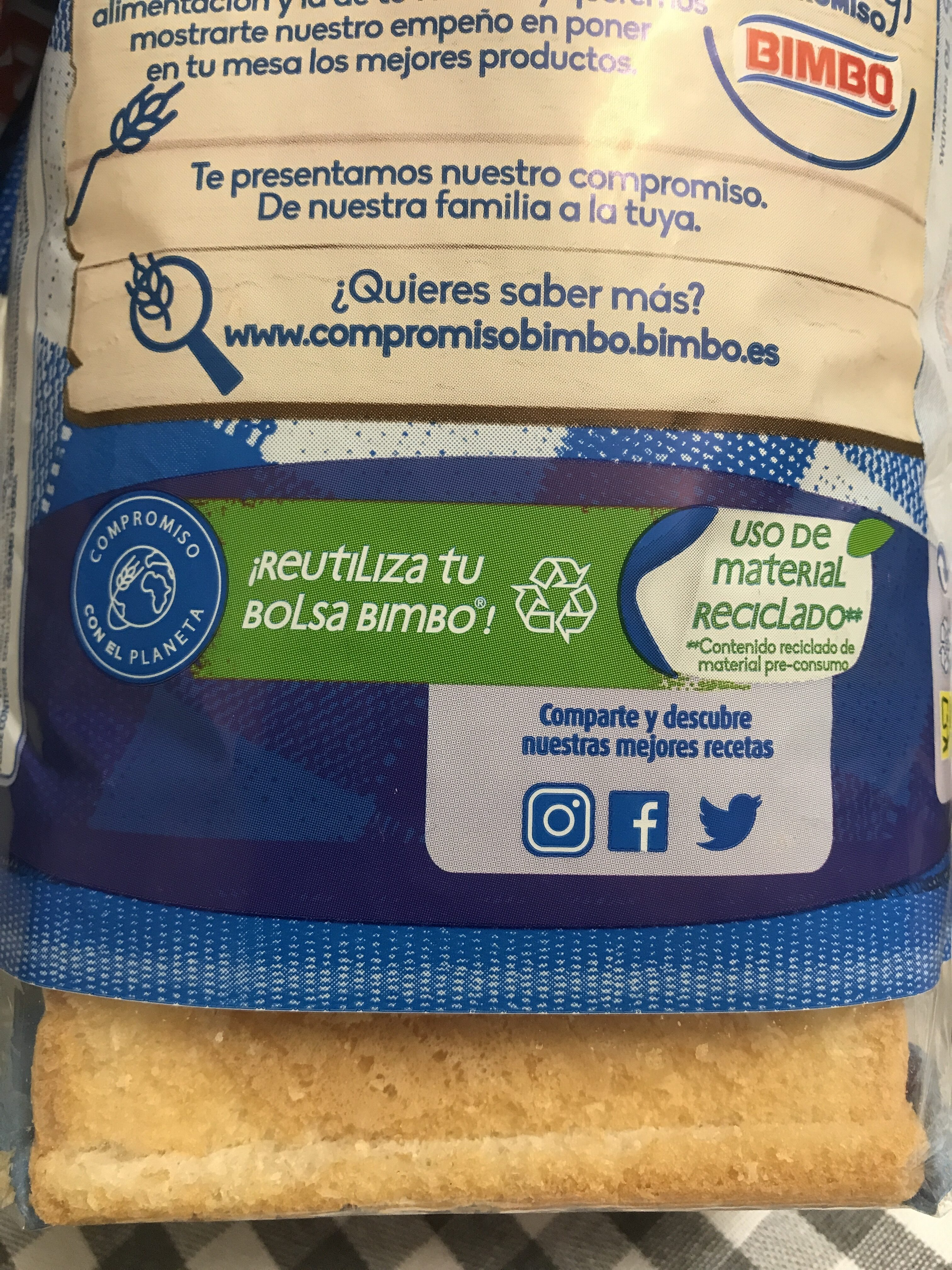 Pan de molde grande - Recycling instructions and/or packaging information - es