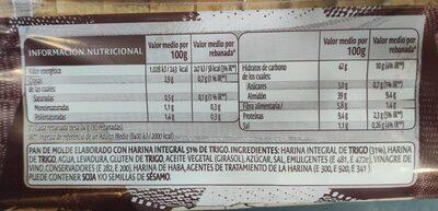51% Harina Integral de Trigo - Información nutricional - es