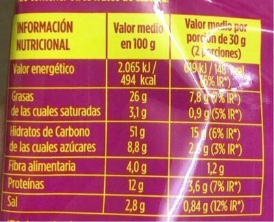 Eagle bombay - Informació nutricional - es