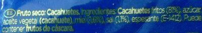 Cacahuètes a la miel y sal - Ingredientes