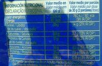 Cacahuètes a la miel y sal - Información nutricional