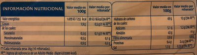 Mediano - Nutrition facts