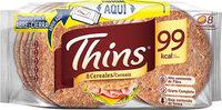 Sandwich pan con cereales bajo grasa rico fibras completo - Produit - es