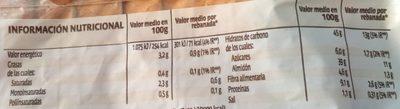 Bimbo Natural 100% - Información nutricional