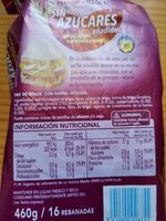 Pan de molde con harina integral sin azúcares añadidos - Informations nutritionnelles