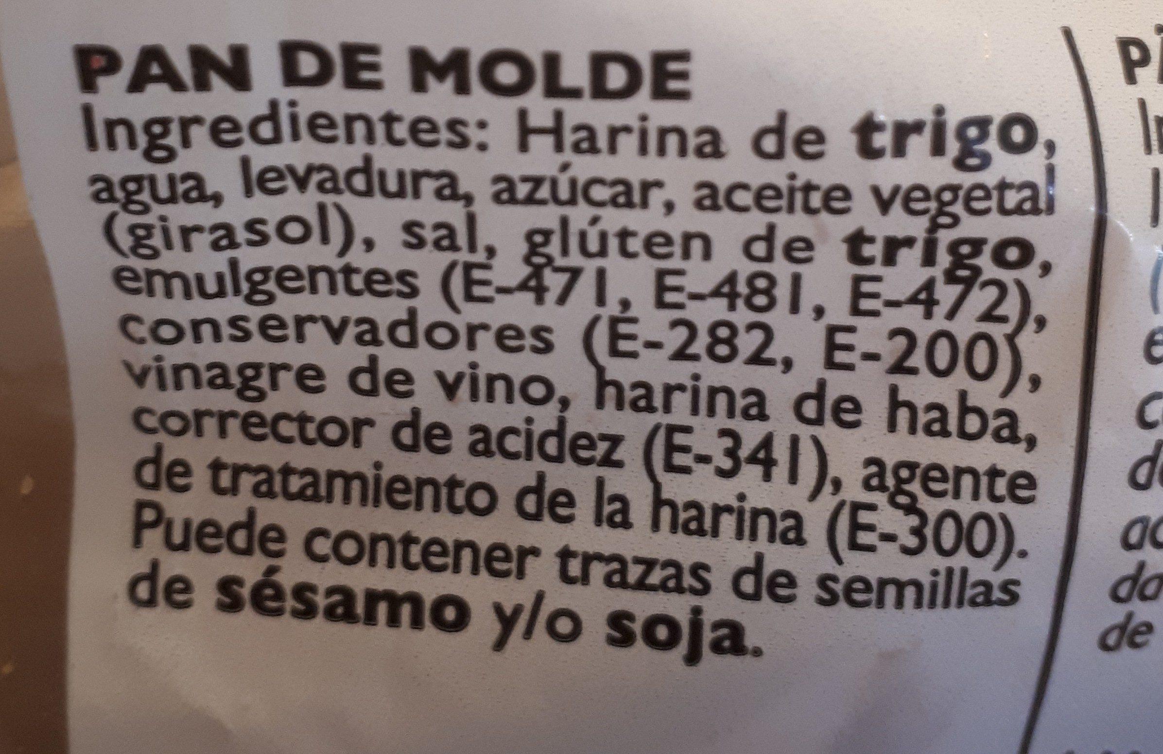 Pa De Motlle Ortiz - Ingrédients - es