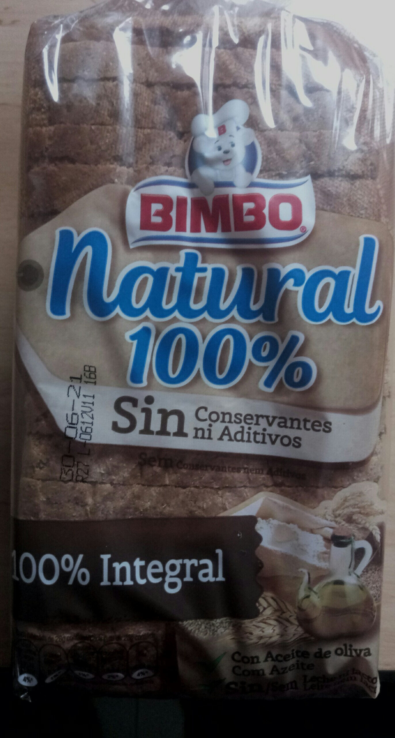 Bimbo integral Natural 100% - Producto - es