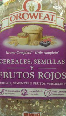 Pan de molde con cereales, semillas y frutos rojos completo - Producto