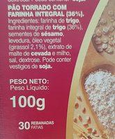 Silueta mini tostas integrales - Ingrediënten