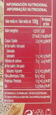 Silueta mini tostas integrales - Voedigswaarden