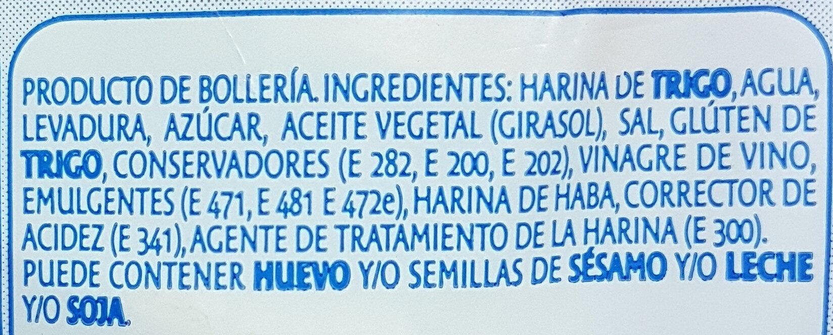 Pan Para Hot Dogs De Bimbo - Ingredientes - es