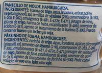 Pan De Hamburguesa - Ingredientes - es