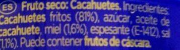 Cacahuetes fritos con miel Sin Gluten lata 250 g - Ingredients - es