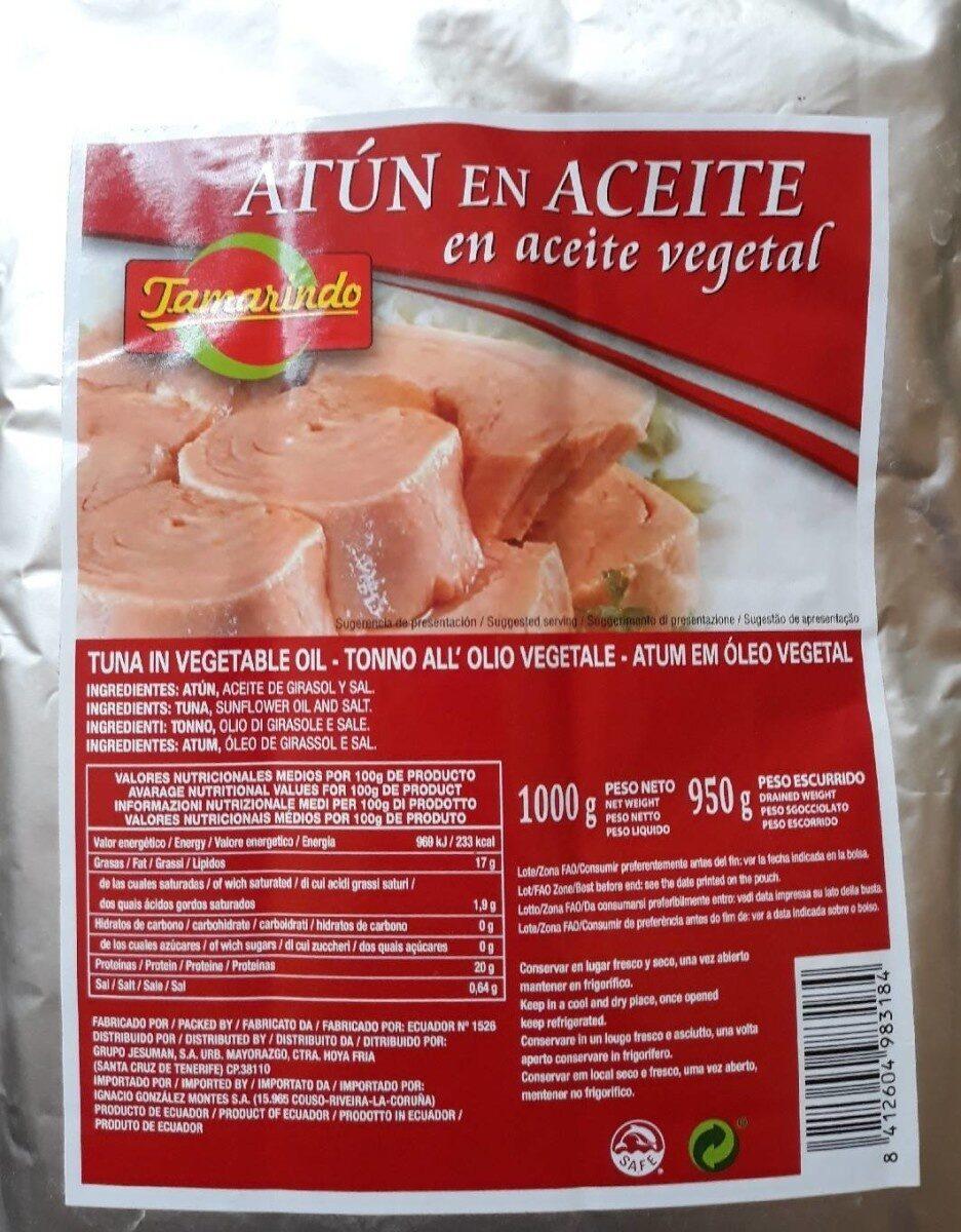 Atún en aceite vegetal - Producto