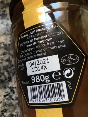 Miel Poliflora - Ingredientes - es
