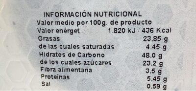 Surtido muffins - Informations nutritionnelles