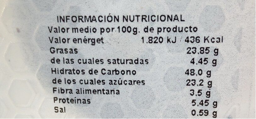 Surtido muffins - Informations nutritionnelles - es