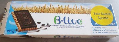 B-live gâteau au chocolat noir 70% - Producte - fr